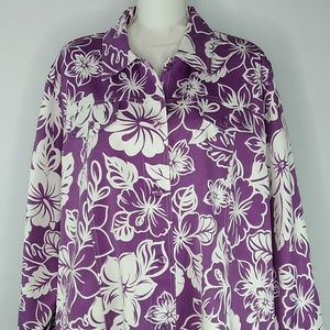 Alfred Dunner Womens Jacket Top Blouse Size 24W